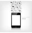 Realistic detalized flat smartphone with vector image