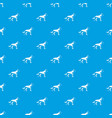 shepherd dog pattern seamless blue vector image
