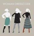 woman dresscode  women in vector image