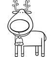 Christmas reindeer coloring page vector image