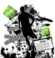 soccer grunge vector image