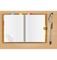 writing pad vector image