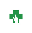 green medical logotype vector image