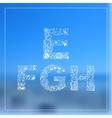 Romantic ocean sea herbal hand drawn alphabet vector image