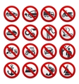 Prohibited symbols vector image