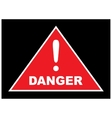 Sign showing danger eps10 vector image