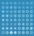 snowflakes in blue background vector image