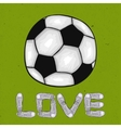 Words of love for the sport on the football field vector image