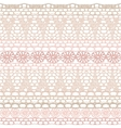 Lace seamless crochet pattern vector image