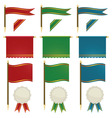 flags and ribbons vector image