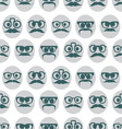 Hipster smiley seamless pattern3 resize vector image vector image