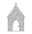 sketch of the church vector image