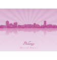 Billings skyline in purple radiant orchid vector image