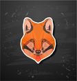 abstract triangle polygonal fox snout vector image vector image