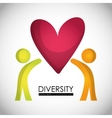 Diversity icon design vector image