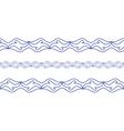 Seamless wave border vector image