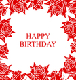 rose birthday vector image vector image