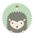 Animal set Portrait in flat graphics - Hedgehog vector image