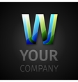 abstract logo letter W vector image