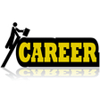 Career climb vector image
