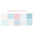 Cute and chic pink patterns vector image