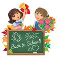 Kids back to school board vector image