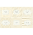 Retro Mono Line Frames with place for Text Design vector image