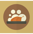 roasted chicken icon vector image