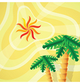 Tropical setting vector image