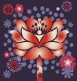 violet blossom vector image