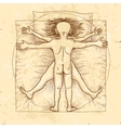 Vitruvian couple vector image