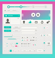 user interface elements for web and mobile vector image vector image