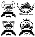 Motorcycle sport vector image
