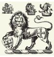 medieval lions vector image vector image