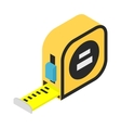 Builders tape measure isometric 3d icon vector image