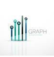 Abstract logo idea linear chart or graph vector image