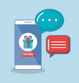 buy now in the cellphone order chatting online vector image