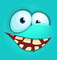 cartoon monster face vector image