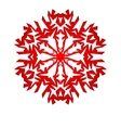 Christmas background with white paper snowflake vector image