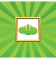 Cloud upload picture icon vector image