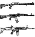 Combat weapons 1 vector image
