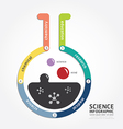 infographics science design diagram line vector image