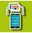 pc screen smartphone data binary vector image