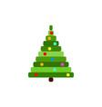 pixel christmas tree vector image