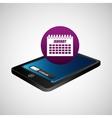 smartphone blue screen unlock calendar date vector image