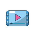 video digital play media screen vector image