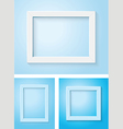 white and blue frame set vector image