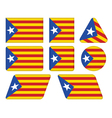 buttons with flag of Catalonia vector image
