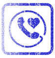 love phone framed textured icon vector image