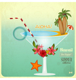 Summer Cocktail Card in retro Style vector image vector image
